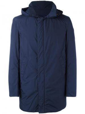 Пальто-пуховик с капюшоном Save The Duck. Цвет: синий