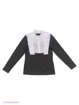 Блузка LIK. Цвет: серый, белый