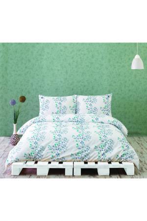 Комплект постельного белья Marie claire. Цвет: white and blue