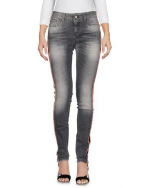 Джинсовые брюки MICHELA MII. Цвет: серый