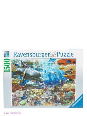 Пазл Подводный мир, 1500 шт Ravensburger. Цвет: морская волна, оранжевый, серо-зеленый
