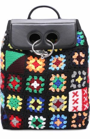 Рюкзак Pierce с вышивкой J.W. Anderson. Цвет: разноцветный