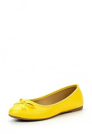 Балетки Catherine. Цвет: желтый