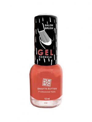 Гелевый лак GF тон 44 яркий оранжевый, 12 мл Brigitte Bottier. Цвет: оранжевый