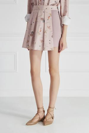 Хлопковая юбка Sorry, i'm Not. Цвет: розовый