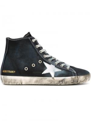 Хайтопы Francy Golden Goose Deluxe Brand. Цвет: синий