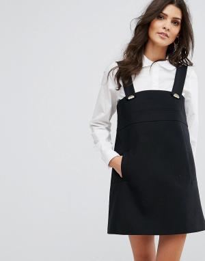 BA&SH Платье мини. Цвет: черный