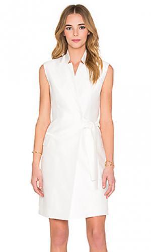 Платье с жилеткой montego Acler. Цвет: ivory