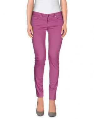 Повседневные брюки UP ★ JEANS. Цвет: светло-фиолетовый