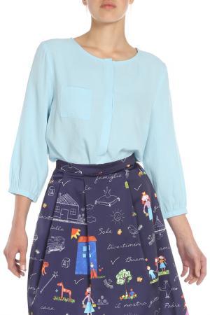 Блузка Ketroy. Цвет: голубой