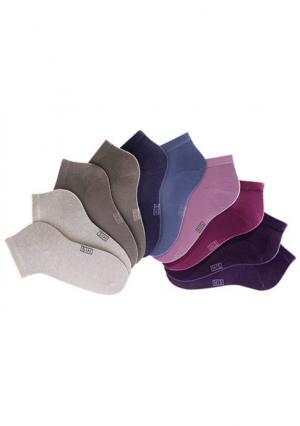 Короткие носки, 10 пар H.I.S.. Цвет: 10х белый, 10х черный, набор b: 10х цветной, набор c: 10х синие тона, набор c: 2х серо-коричневый+2х бежевый меланжевый+2х сливовый+джинсовый+лиловый+дымчато-розовый+ярко-розовый, набор а: 10х джинсовые и бежевые тона