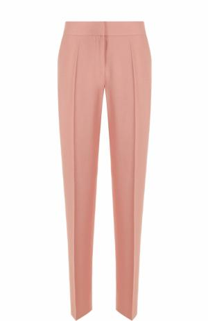 Укороченные брюки прямого кроя со стрелками BOSS. Цвет: розовый