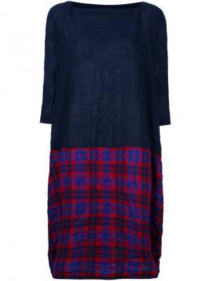 Платье с клетчатой юбкой Daniela Gregis. Цвет: красный
