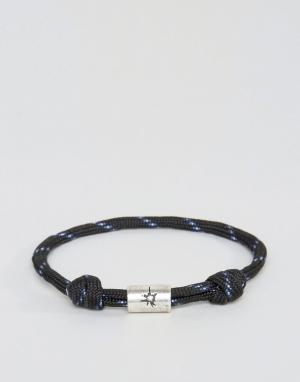 Classics 77 Черный браслет-шнурок. Цвет: черный