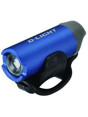 Передний фонарь с зарядкой от USB D-light. Цвет: синий