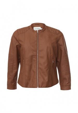 Куртка кожаная Junarose. Цвет: коричневый