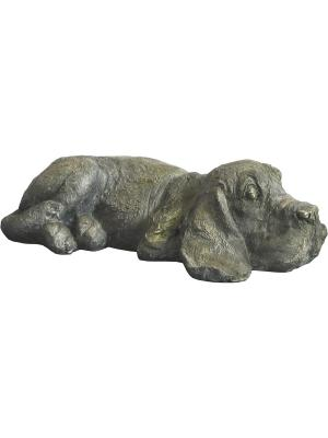 Фигурка садовая Пёс GREEN APPLE. Цвет: серый