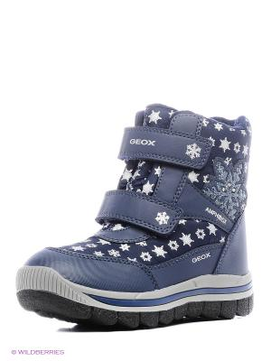 Спортивные ботинки GEOX. Цвет: голубой