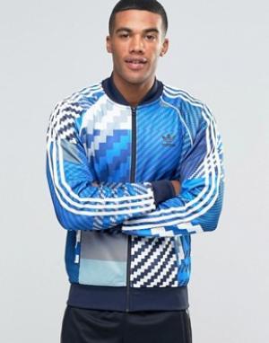 Adidas Originals Серая спортивная куртка AY8279. Цвет: серый