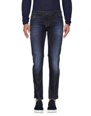 Джинсовые брюки HŌSIO. Цвет: синий