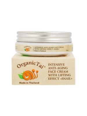 Интенсивный антивозрастной лифтинг-крем для лица С ЭКСТРАКТОМ УЛИТКИ, 50 мл Organic Tai. Цвет: белый