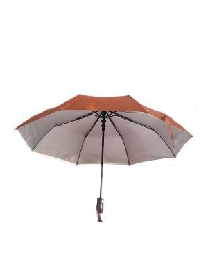Зонт NeKi. Цвет: коричневый,серебристый