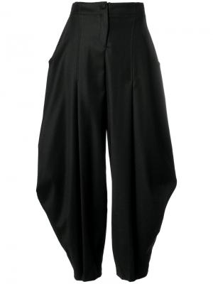 Зауженные широкие брюки Ultràchic. Цвет: чёрный