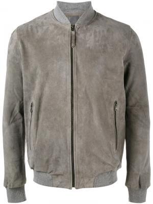 Классическая куртка-бомбер Lot78. Цвет: серый