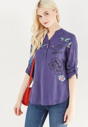 Блуза Desigual. Цвет: синий