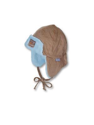 Шапка-ушанка Sterntaler. Цвет: коричневый