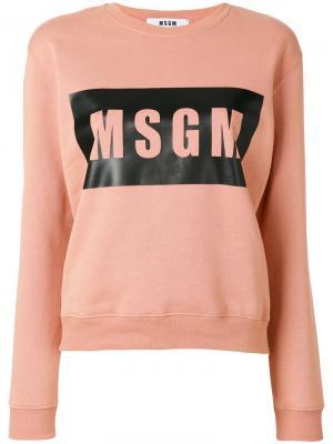 Толстовка с логотипом MSGM. Цвет: розовый и фиолетовый