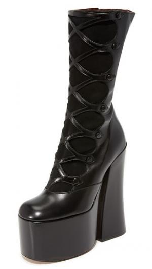 Ботинки Dede на платформе с пуговицами Marc Jacobs. Цвет: голубой