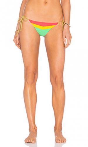 Низ бикини с завязками по бокам Mia Marcelle. Цвет: зеленый