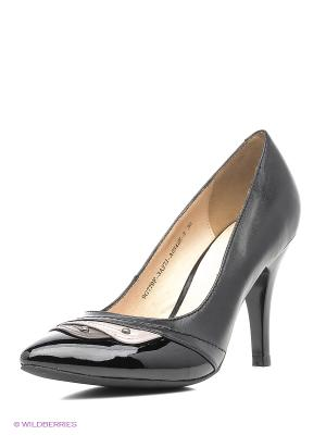 Туфли ANDRE KLEMA. Цвет: черный