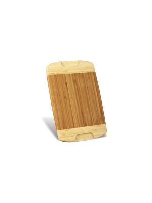Доска разделочная бамб, Green Top. Цвет: светло-коричневый