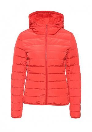 Куртка утепленная Jacqueline de Yong. Цвет: красный