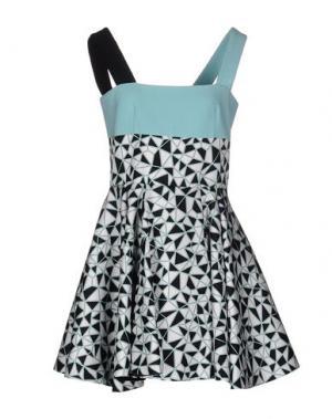 Короткое платье FAUSTO PUGLISI. Цвет: небесно-голубой
