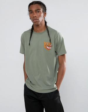 Maharishi Футболка с вышитым тигром Platoon. Цвет: зеленый