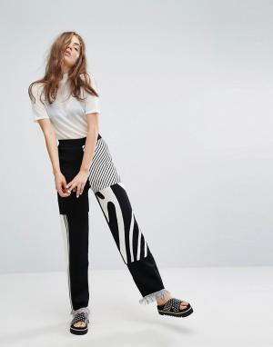 Weekday Трикотажные брюки Press Collection. Цвет: мульти