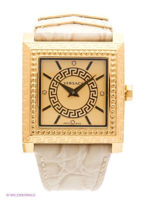 Часы Versace. Цвет: золотистый, молочный