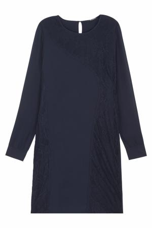 Однотонное платье Cassandra Bruuns Bazaar. Цвет: синий