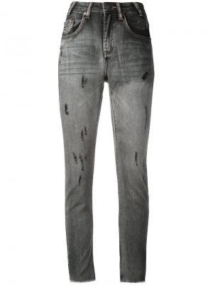 Сильно облегающие укороченные джинсы One Teaspoon. Цвет: чёрный