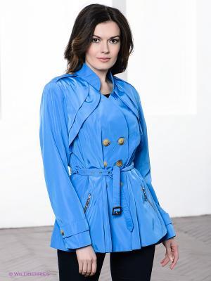 Плащ Alisa Line. Цвет: голубой