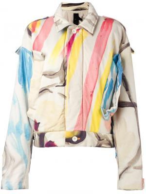 Куртка с абстрактным принтом Bernhard Willhelm. Цвет: многоцветный