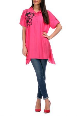 Рубашка Pomme rouge. Цвет: розовый