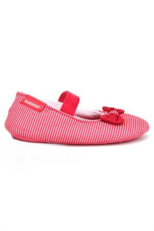 Балеринки Isotoner. Цвет: красный