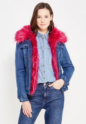 Куртка джинсовая Laura Jo. Цвет: синий