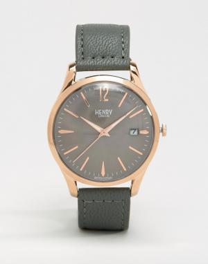 Henry London Серые часы Finchley HL39-S-0120. Цвет: серый