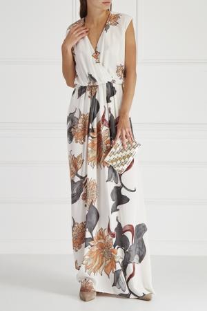 Шелковое платье HOSS INTROPIA. Цвет: multicolor