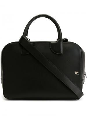 Большая сумка-тоут Courrèges. Цвет: чёрный